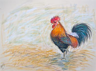 cockerel 2 painting